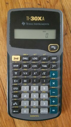 Texas Instruments TI-30Xa Scientific Calculator 30XA - WORKS - No Case