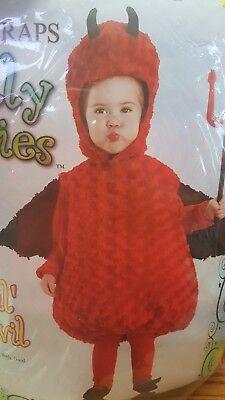 Lil Devil Belly Babies Toddler Infant Costume Bunting Underwraps 25972](Devil Babies)
