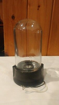 Vintage Complete Explosion Proof Light Fixture Pg Co Glass Globe Base Free Ship