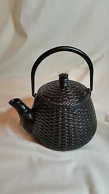 Collectible Small Japanese Cast Iron Tea Pot With Screen Strainer