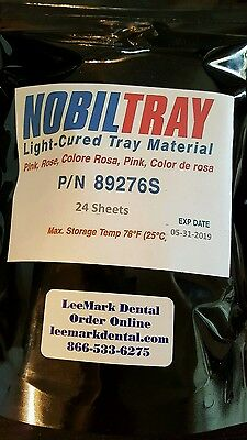 24 Nobiltray Light-cured Tray Material Pink Sheets Dental Triad New Lab Supplies