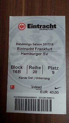 Ticket Bundesliga Saison 2017/18 Eintracht Frankfurt vs. Hamburger SV