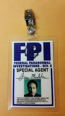 X-Files TV Serien Id Badge-Fox Mulder Miniseries Kostüm Requisite - Mulder Kostüm