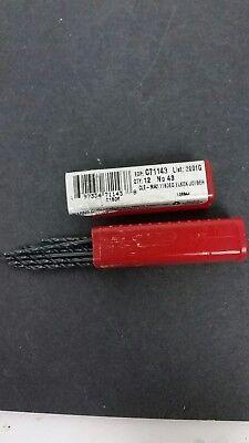 12 Pcs 48 Cleveland Twist Drill Bits Black Item. 486