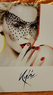 Kylie Minogue card - X -  promo card - KYLIE MINOGUE - 4 x 6 inches