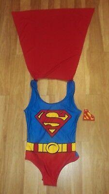 Superman  Body Suit with detachable Cape     size Med  (Superman Suit)