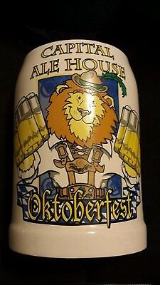 Capital Ale House Oktoberfest Beer Stein Lion preowned
