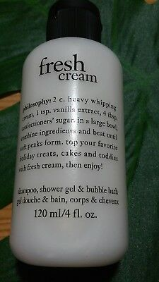 PHILOSOPHY FRESH CREAM (VANILLA)SCENTED SHAMPOO, SHOWER GEL & BUBBLE BATH-SEALED