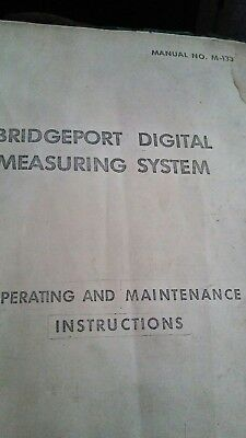 Bridgeport Digital Measuring System Manual