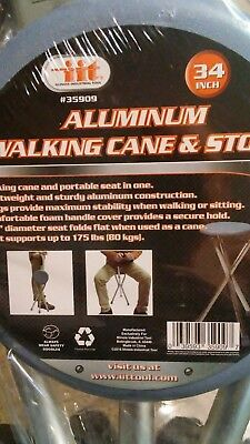 Walking Chair Folding Cane Seat Walking Stick with Stool Lightweight Portable