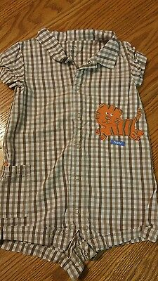 Carter's plaid tiger outfit size 18mths (Tiger Outfit)