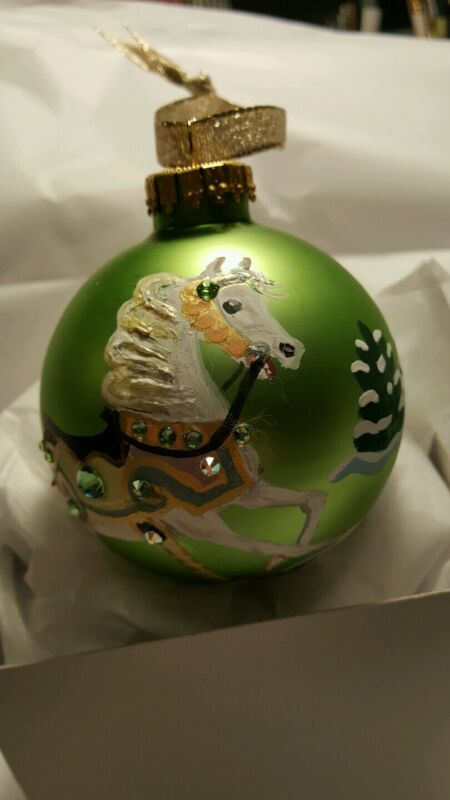 AUGUST CAROUSEL HORSE BIRTHSTONE ORNAMENT