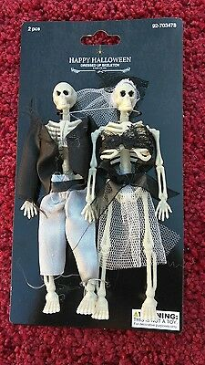 Day of the Dead 2 PC's Dressed Up Skeletons Wedding Outfit Halloween Decorations](Halloween Wedding Dress Up)