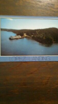 WASHINGTON STATE FERRIES LOPEZ LANDING VINTAGE POST CARD SAN JUAN ISLANDS