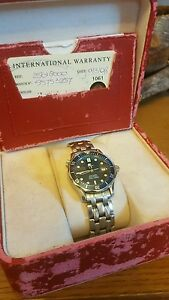 Omega Seamaster Professional 300M Mid Size Quartz Blue Dial BOX PAPERS