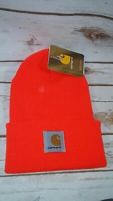 Carhartt Acrylic Knit Hat Bright Orange Fits Most Hunting Construction Beanie  Carhartt Acrylic Knit Beanie