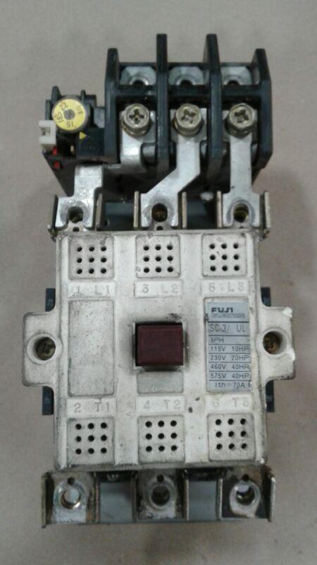 Fuji Electric SC-3/UL Motor Contactor 3 PH with TR-3/UL Relay #1079KW
