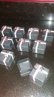 Favour Box  Wedding Table Decorations, Guest Gifts Black and silver box x9