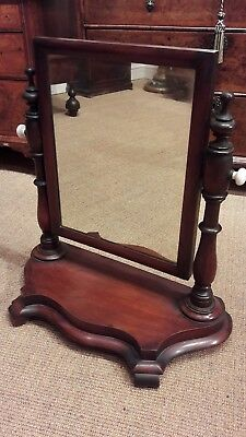 19th century mahogany swing toilet mirror