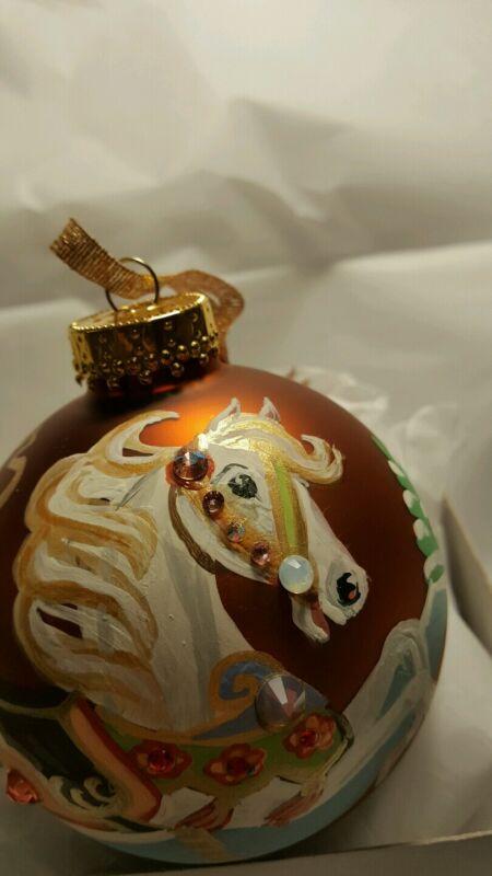 OCTOBER BIRTHSTONE CAROUSEL HORSE ORNAMENT