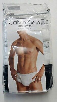 CALVIN KLEIN Black 4 PACK Classic Fit BRIEFS MENS Large Underwear New