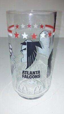 McDonalds Atlanta Falcons Glass Collectible 5-1/2 Tall 1980s NFL Football Player