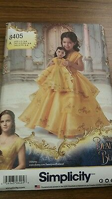 Simplicity Pattern 8405 Disney Beauty and the Beast Costume for Child &18' doll](Disney Beast Costume For Kids)
