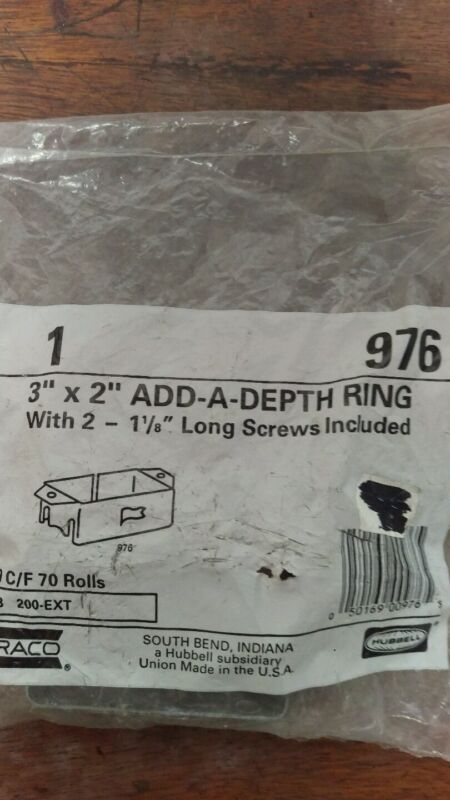 "Add-a-depth rings 3"" X 2"" w/ screws"