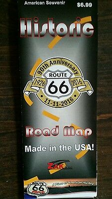 HISTORIC ROUTE 66 TRAVEL ROAD MAP CHICAGO TO LA 90TH 2016 EDITION! BEST (Best Route 66 Guide)