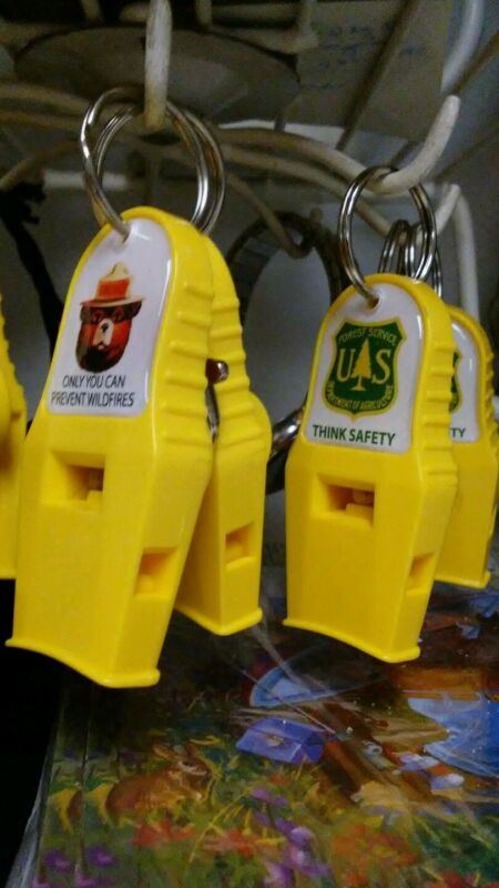 FOREST SERVICE WHISTLES. FOREST SERVICE OR SMOKEY FACE.   MUST FOR SAFETY GEAR .