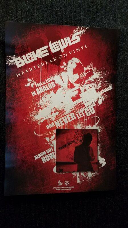 Blake Lewis poster - Heartbreak On Vinyl promotional poster