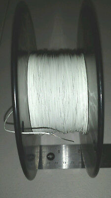 500 Ft Spool M2275942-26-9 26awg White Aircraft Cable Wire 1938 600v