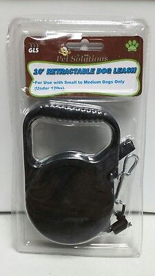 RETRACTABLE DOG PET LEASH  UP TO 12 LBS 10' FEET ROPE CORD LEAD HEAVY DUTY BLACK