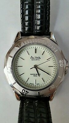 Activa Mens Swiss Analog Quartz Wrist Watch