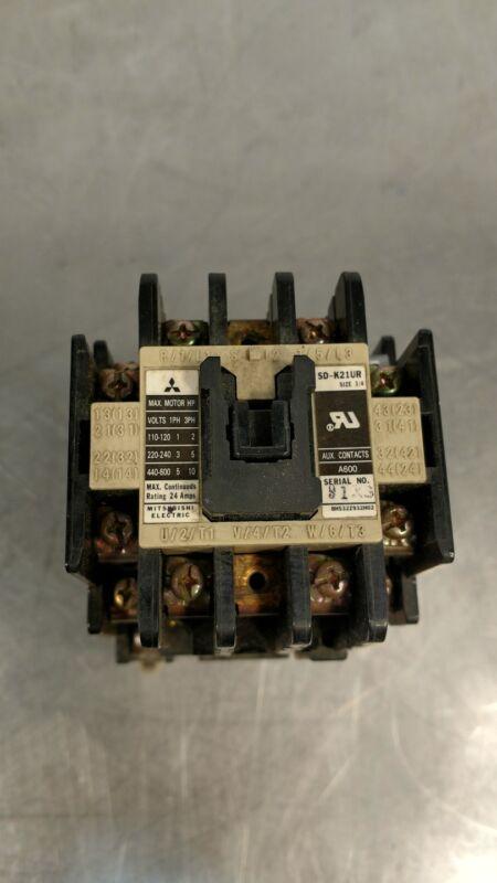 MITSUBISHI SD-K21UR 24 A 3 PH CONTACTOR                                    4E-10
