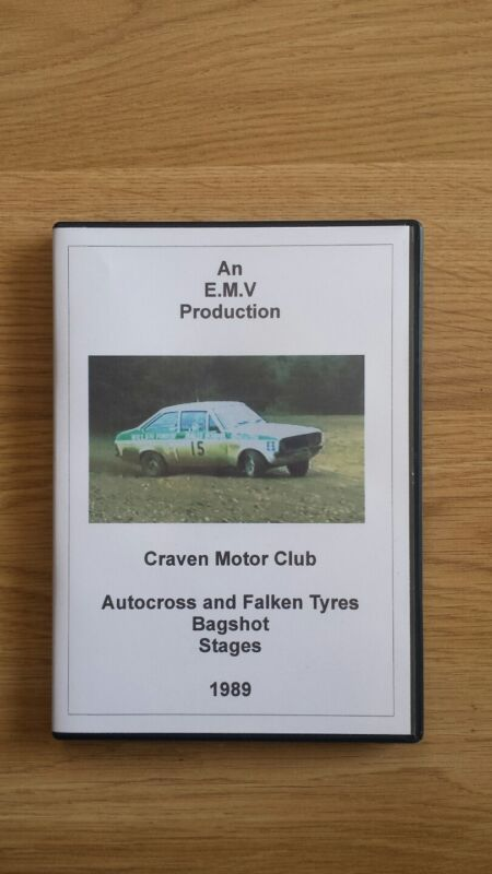 1989+Autocross+and+Falken+Tyres+Bagshot+Stages+Rally+DVD+Craven+Motor+Club+Richa