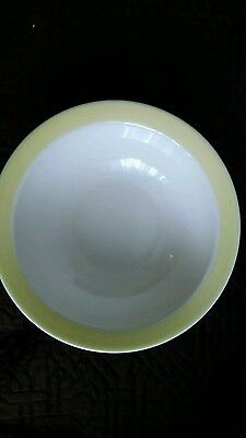 "Pfaltzgraff  Marimekko? Serving Dish Vegetable  Bowl Yellow Banded 9 1/4"" Round"