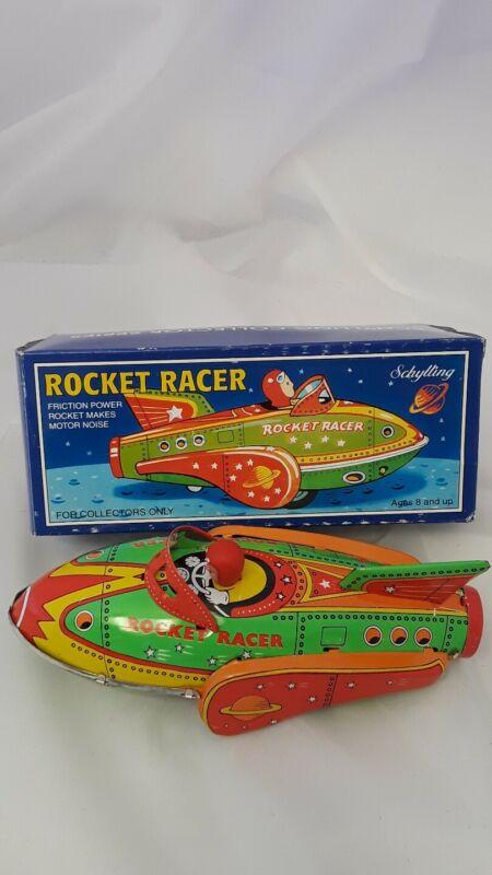 "Rocket Racer Tin Toy Schylling Circa 2001 8"" Long"
