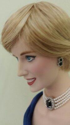 The Franklin Mint Diana, Princess of Wales Porcelain Portrait Doll