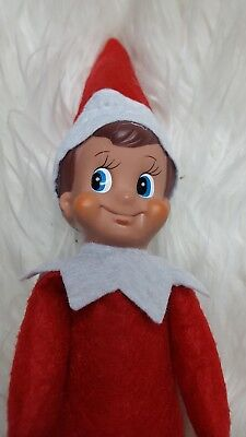 Elf Red Boy On The Plush Doll Holiday Christmas New