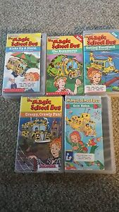 Magic-School-Bus-VHS-lot-of-5-most-library-copies-Free-shipping-Good-condition