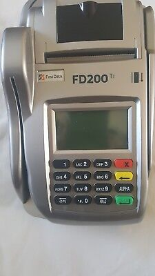 First Data Fd200ti For Checks Credit Cards   Cleared Unlocked    W 1Yr Warranty