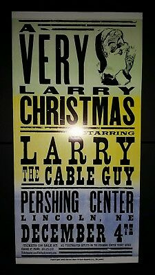 LARRY THE CABLE GUY 2003 Christmas HATCH SHOW PRINT Poster Lincoln NE Nashville Larry Cable Guy Shows