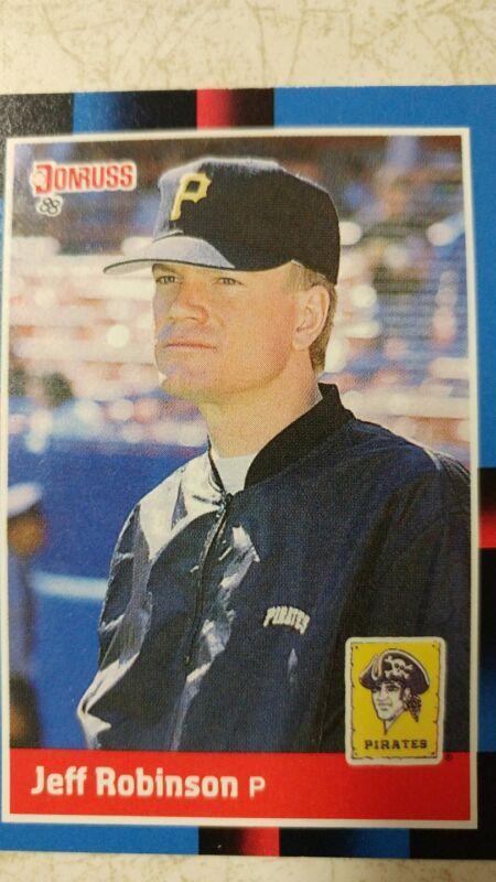 1988 Donruss Pittsburgh Pirates Baseball Card #558 Jeff D. Robinson