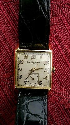 Girard Perregaux 1791 14k Gold solid yellow gold Vintage rear Watch.