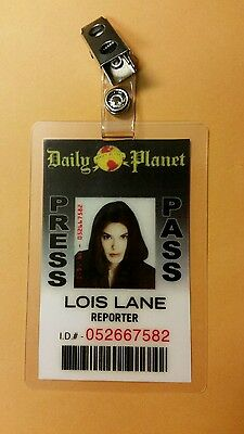 Superman Lois & Clark ID Badge-Lois Lane Reporter cosplay prop costume - Superman Lois Lane Costume