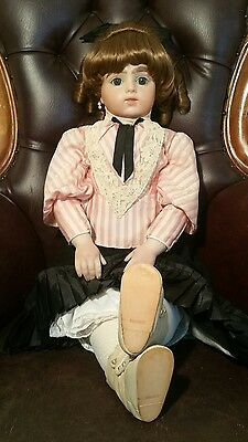 "Vintage French Bru Jne 30"" Tall Bebe Bisque Fashion Doll With Clothes"