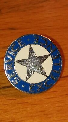 Vtg Service Excellence Blue Silver Star Lapel Pin Performance Employee Award