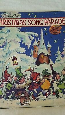 1938 Treasure Chest Christmas Song Parade and Pictures to Color George Carlson