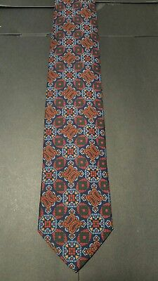 Drakes Tie New Exclusive Custom Handmade in England 100% Silk Limited Print ()